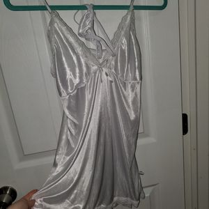 Satin sleep gown lingerie set